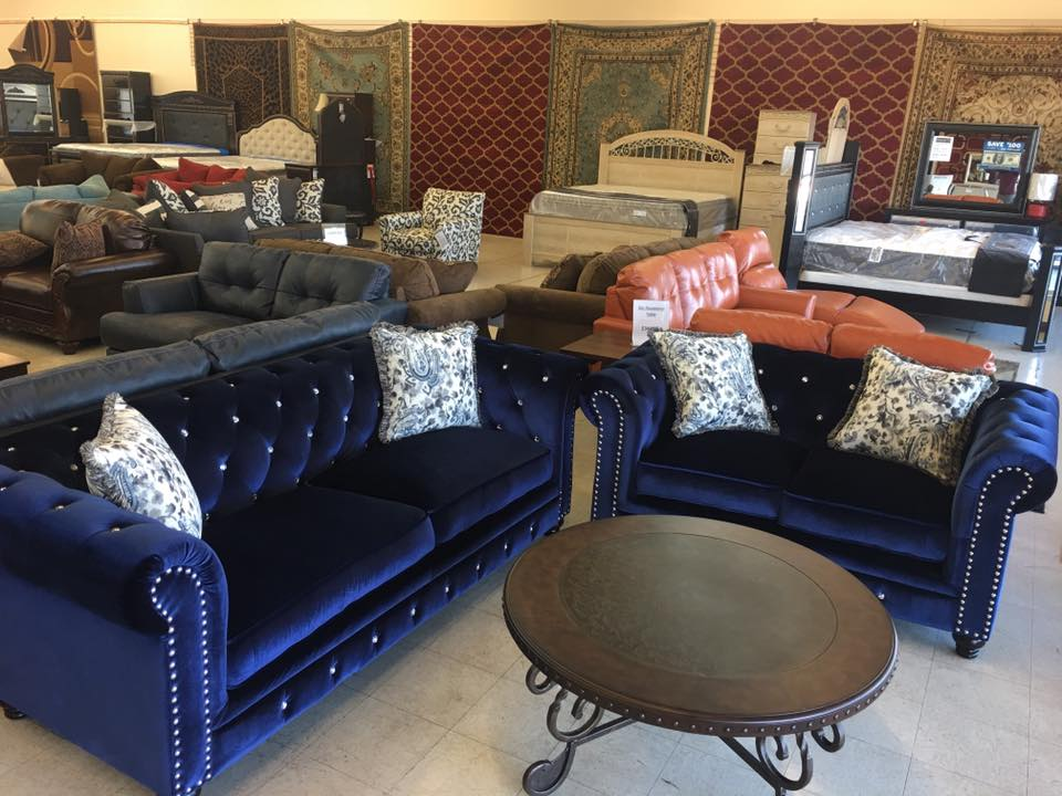 Blue Sofa And Loveseat Durham Navy Blue Couch With Nailheads Reviews Crate And Barrel Thesofa