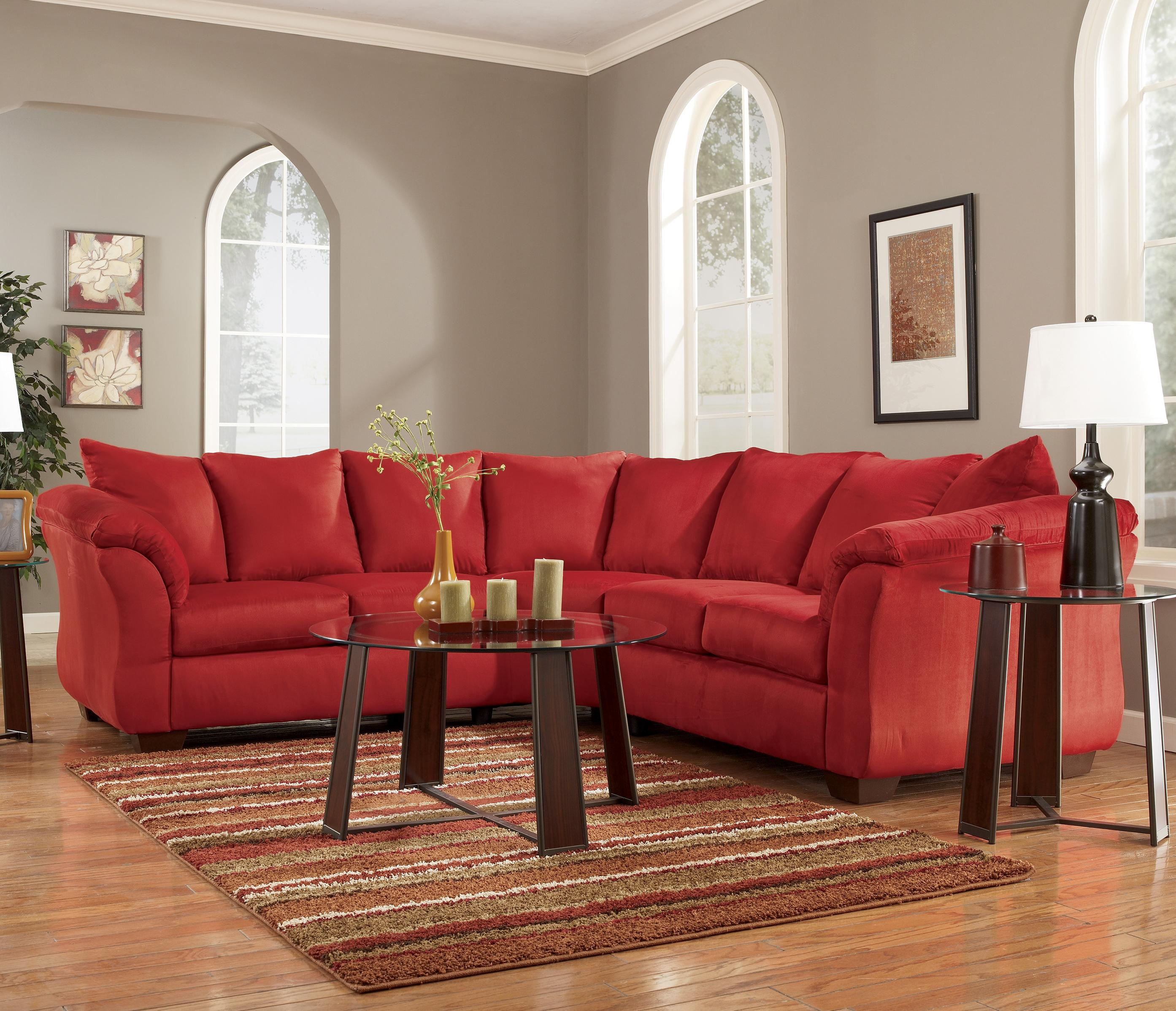 durango sectional red top ottoman view with leather of furniture sectionals
